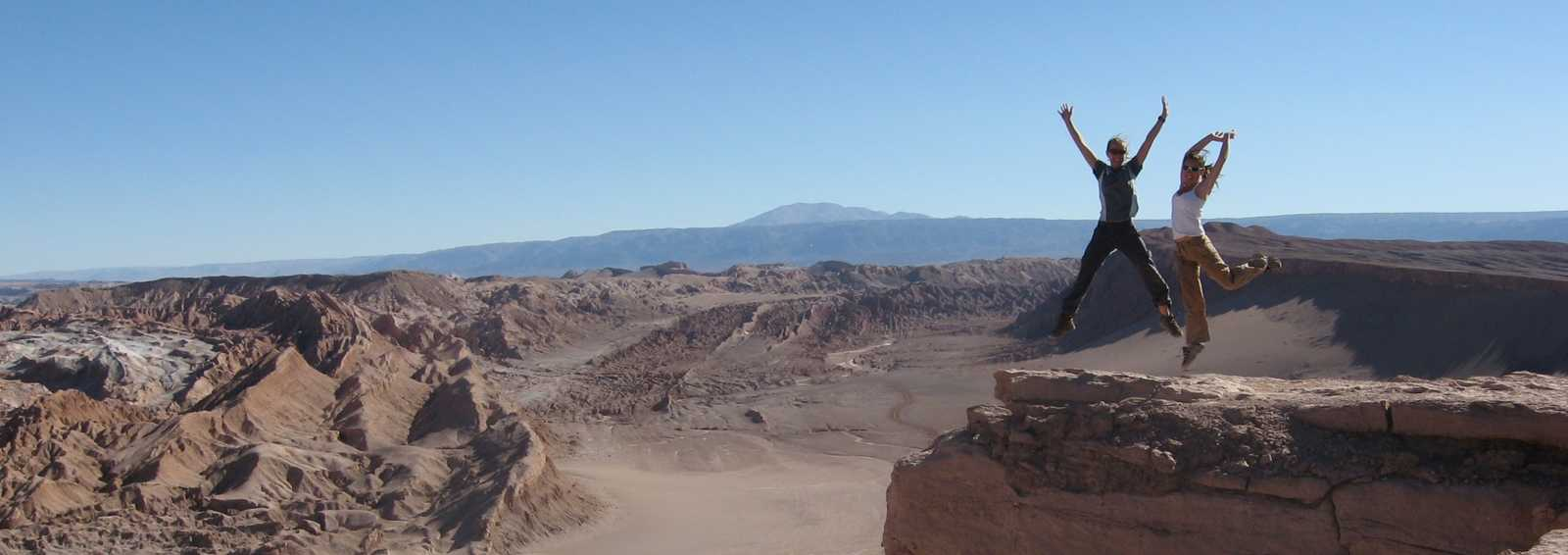 Jumping for joy in the Atacama Desert, Bolivia