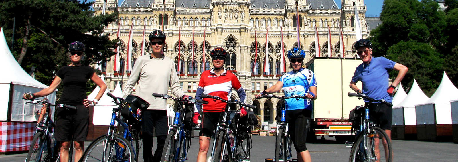 Cycling group in Slovakia