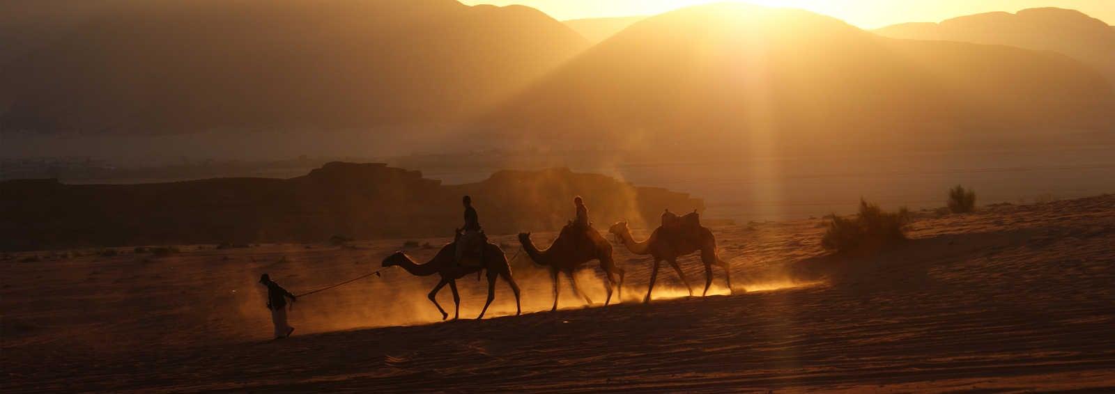 Sunrise in the Wadi Rum, Jordan