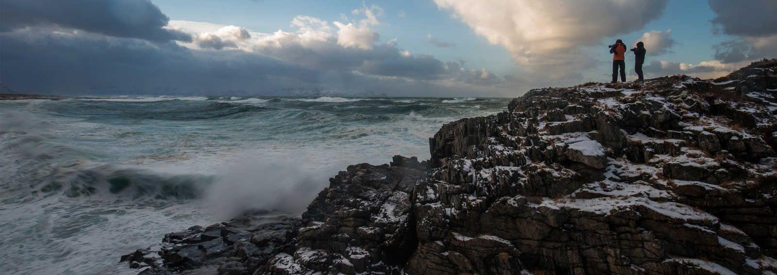 Photographing the wild seas from Andoya's wild coastline