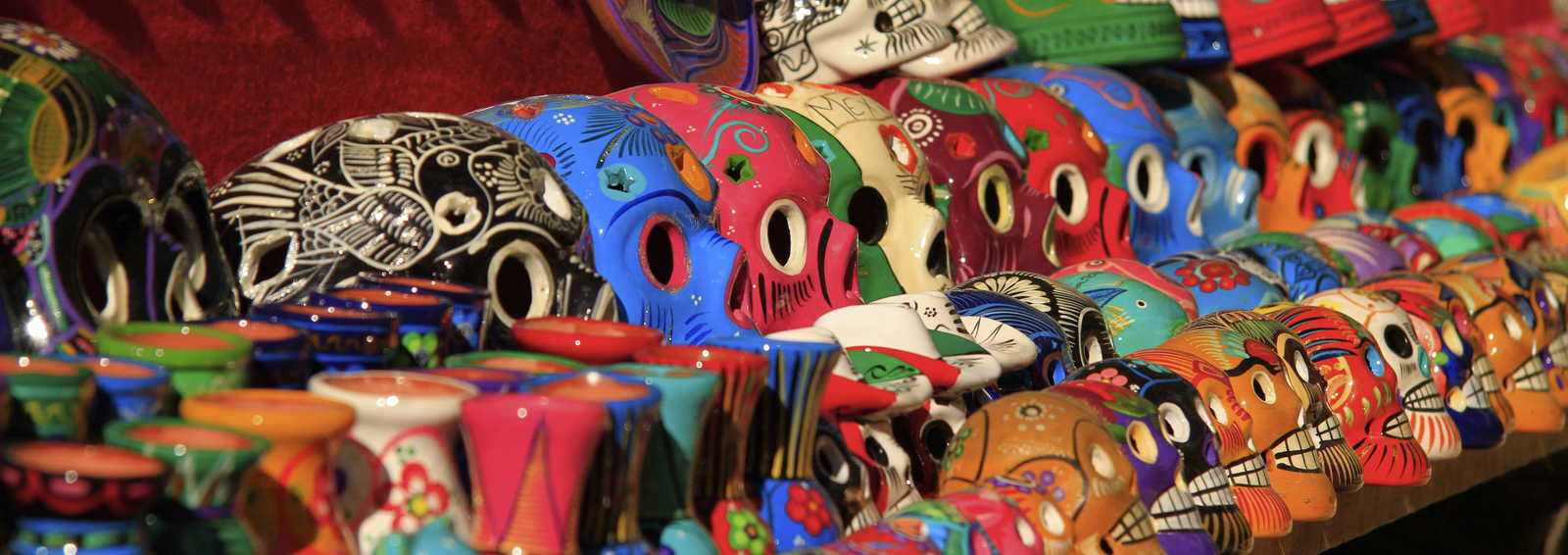 Crafted skulls, Mexico