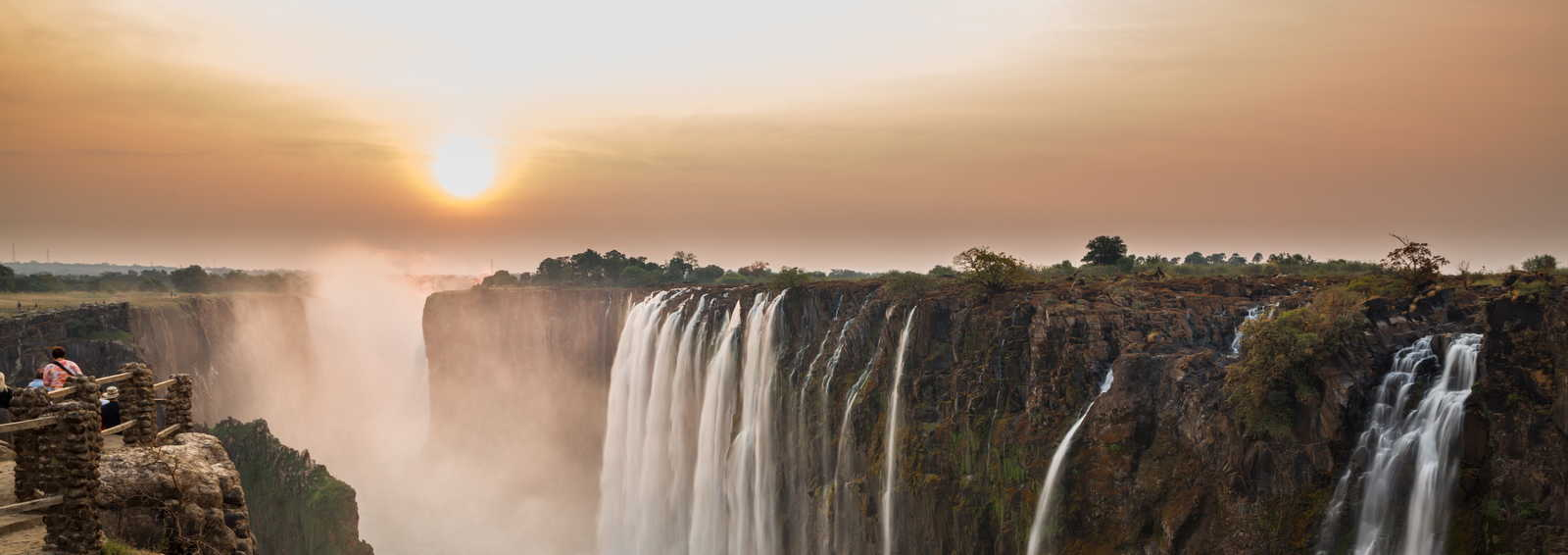 Sunset at Victoria Falls, Zambia