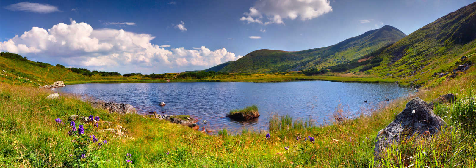 Lake in the Carpathian mountains
