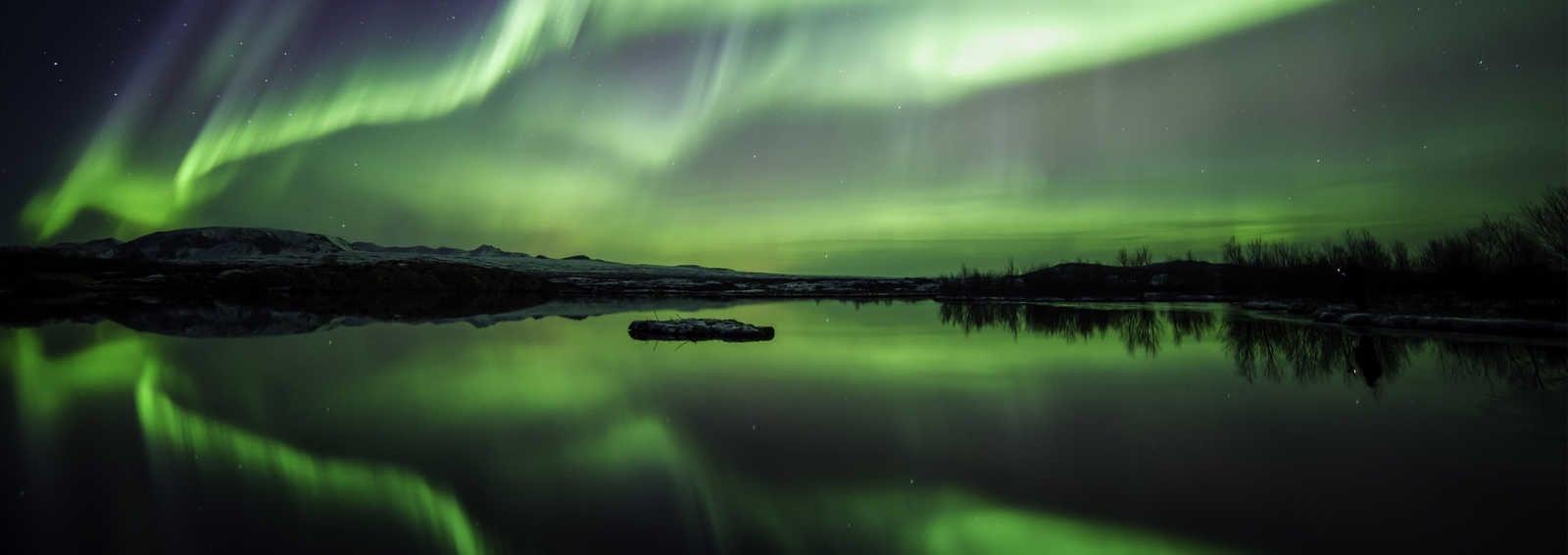 The Aurora dancing over Thingvellir N.P