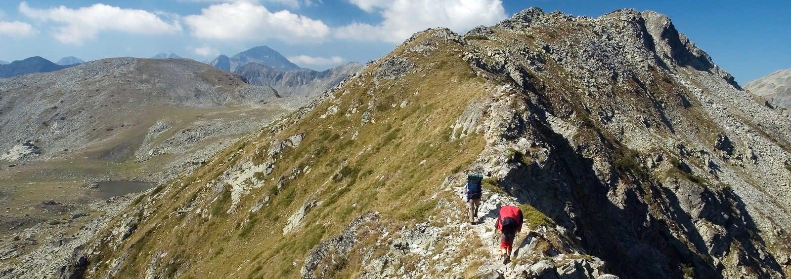 Admiring the scenery in the Rila Mountains, Bulgaria