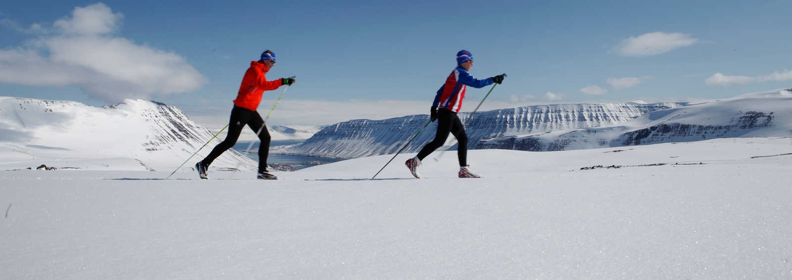 Training for the race in Isafjordur