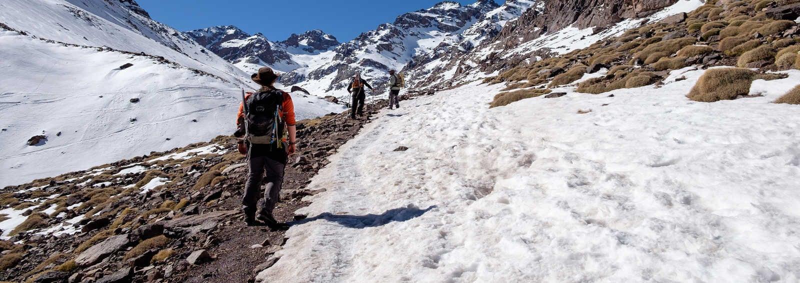 Winter summit of Toubkal