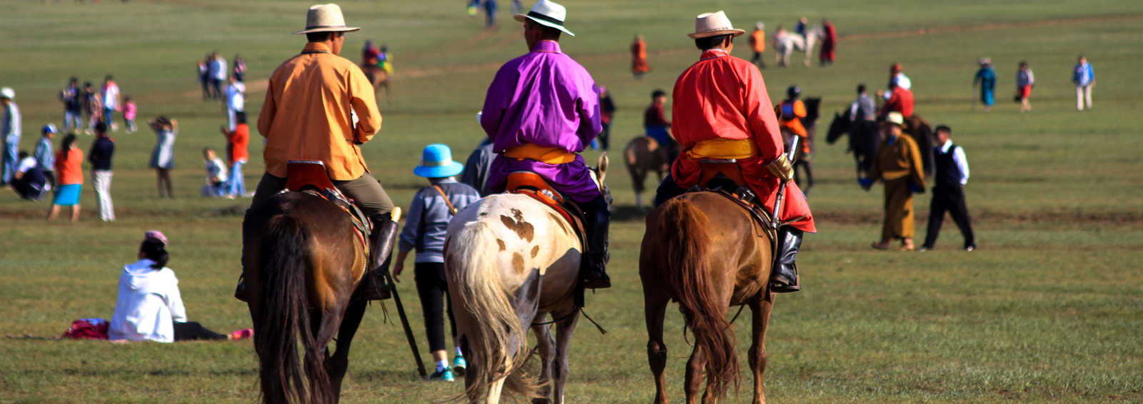 At the horse race, Mongolia