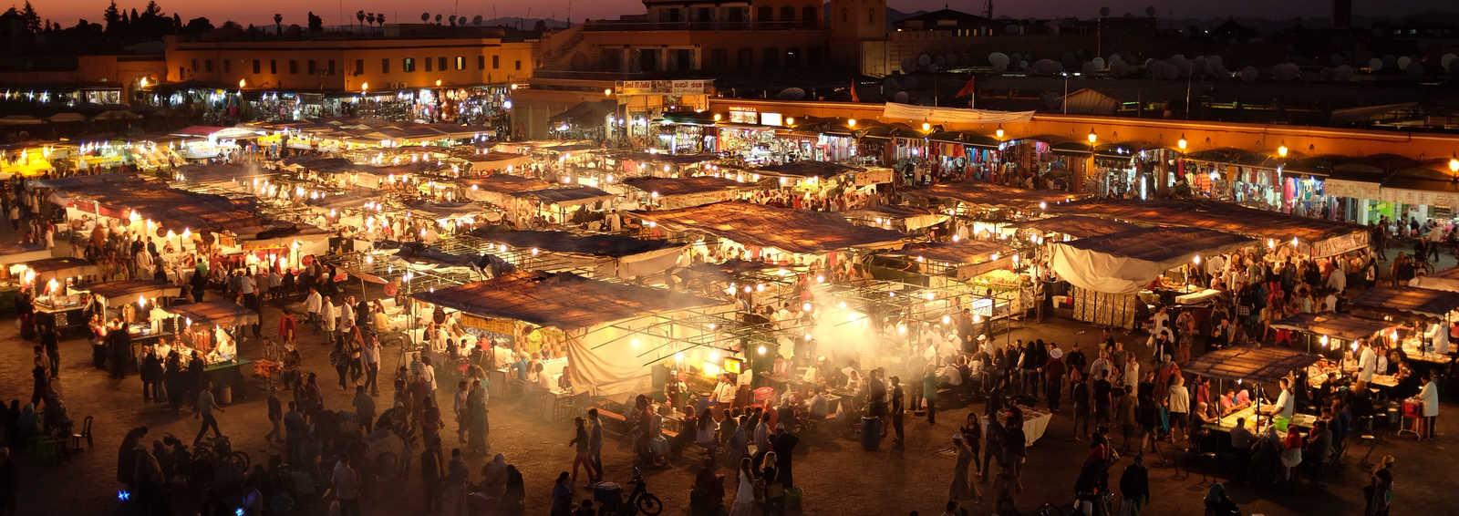 Market square in Marrakech, Morocco