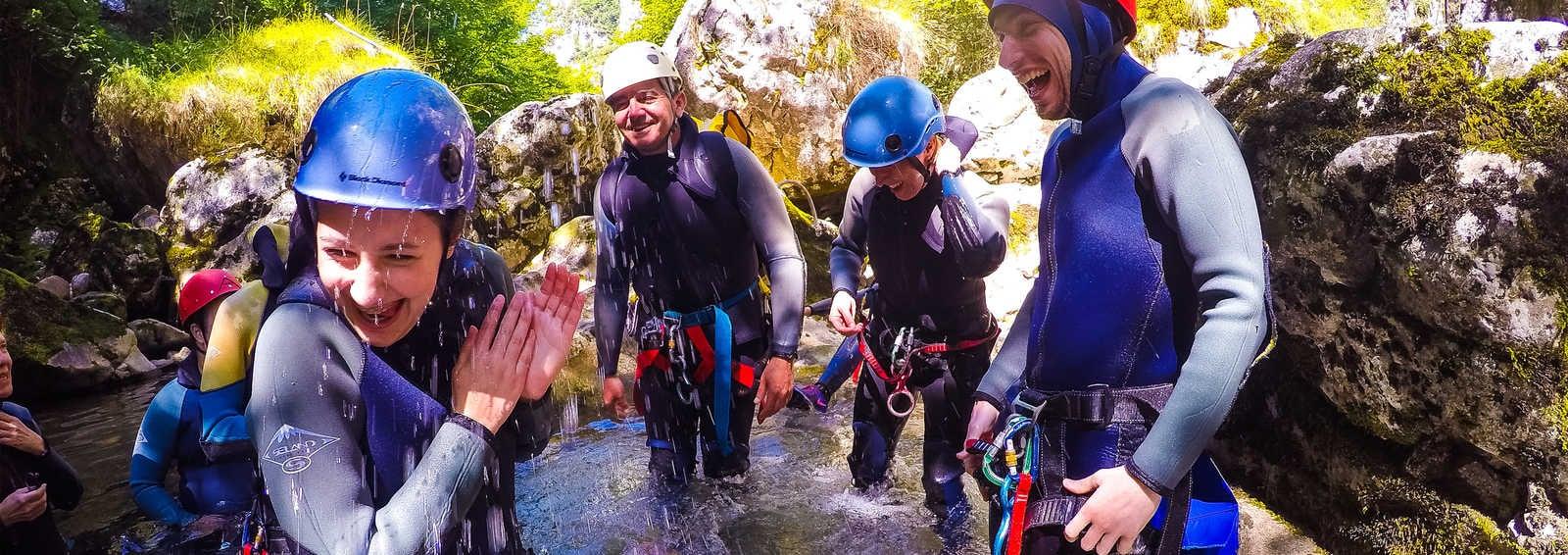 Group canyoning