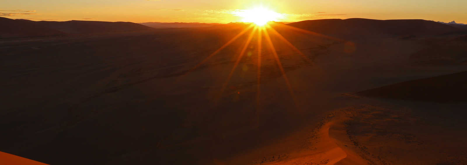 Sunset at the Namib Desert