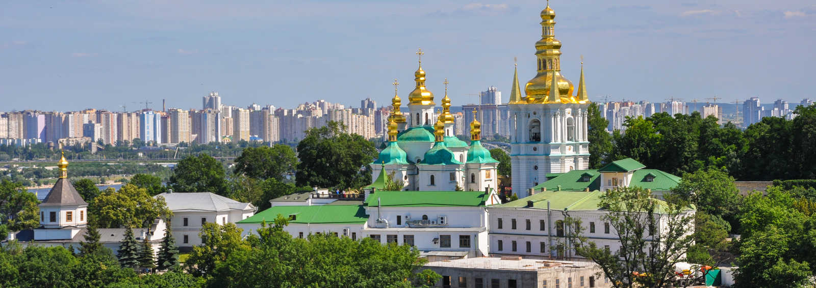 Panoramic view of Kiev Pechersk Lavra in Kyiv, Ukraine
