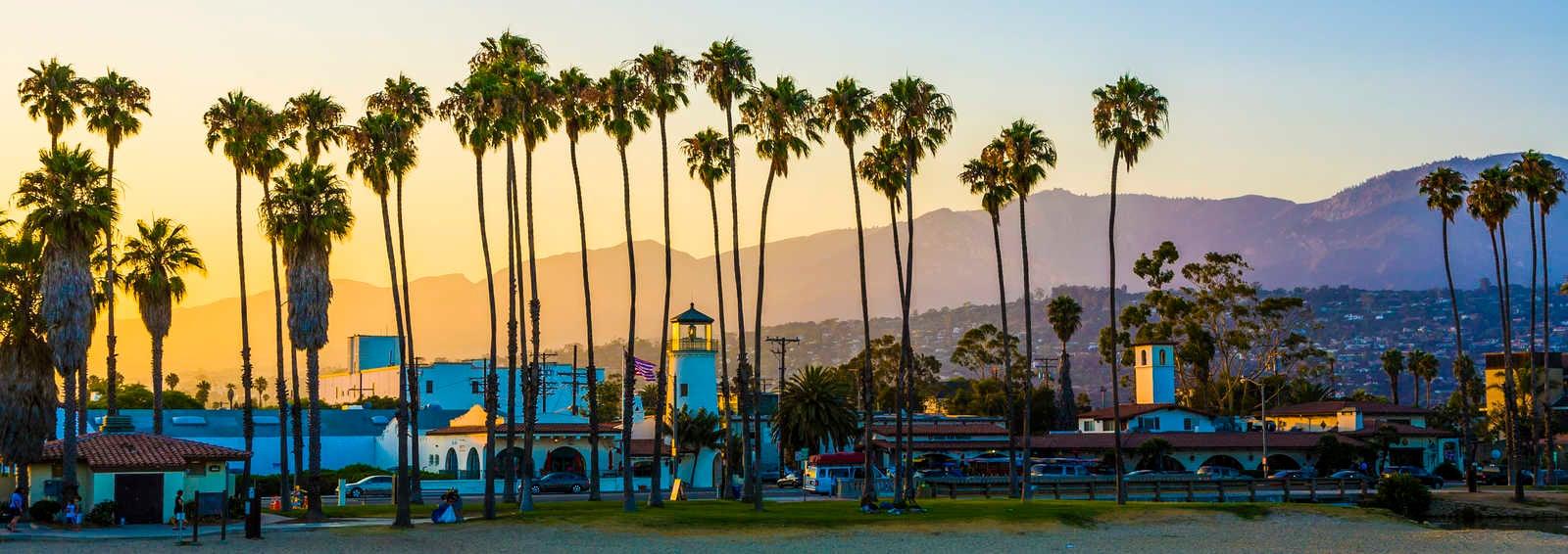Santa Barbara in sunset