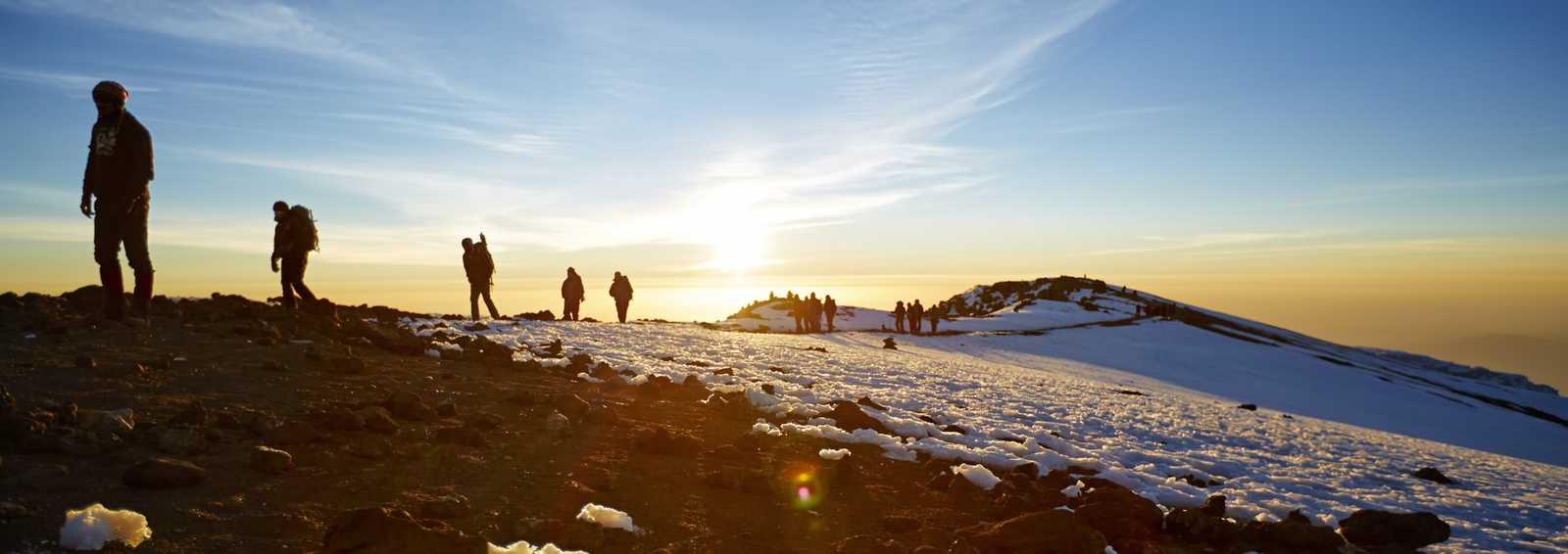Trekkers on Kilimanjaro