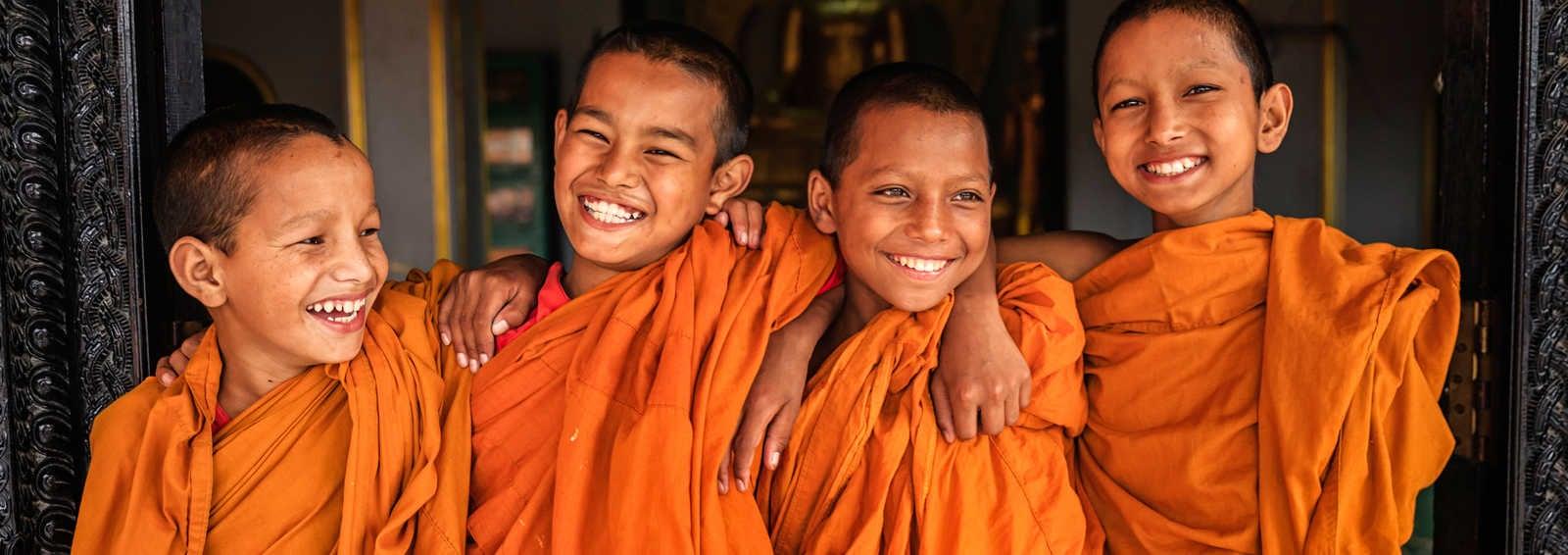 Boy Monks in Bhaktapur, Nepal
