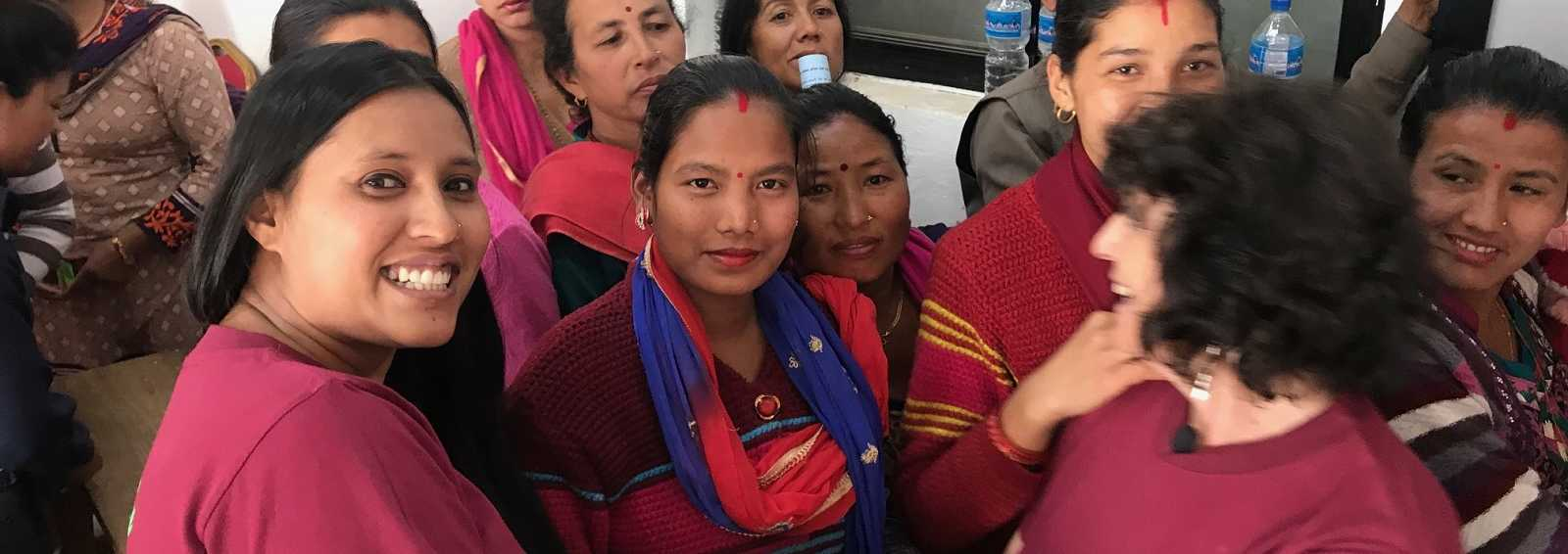 Nepalese Women with Freedom Kit Bags