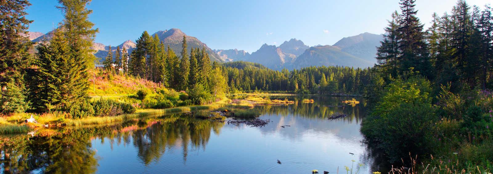 The lake Strbske pleso in Tatra mountains, Slovakia