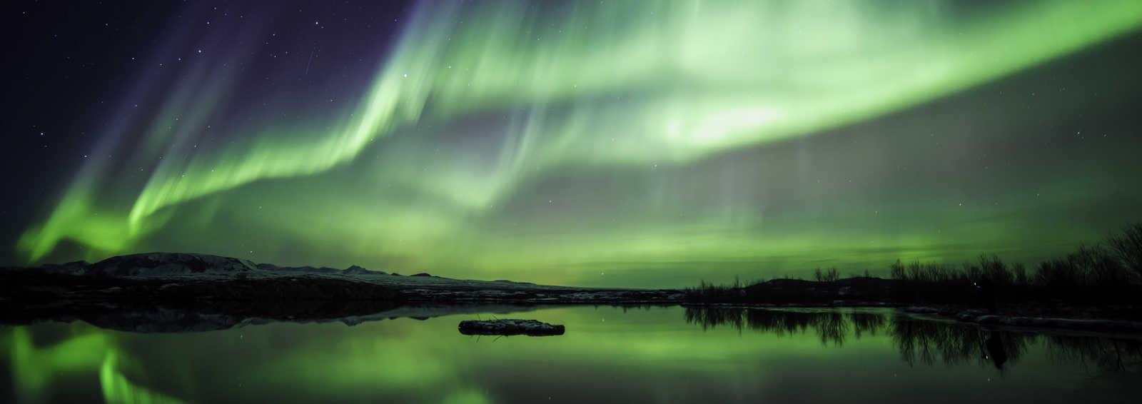 Northern lights (Aurora Borealis) over Iceland