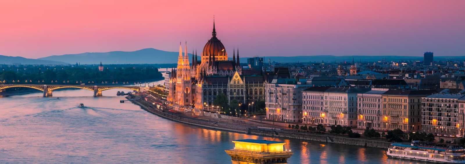 View of Budapest and the Danube