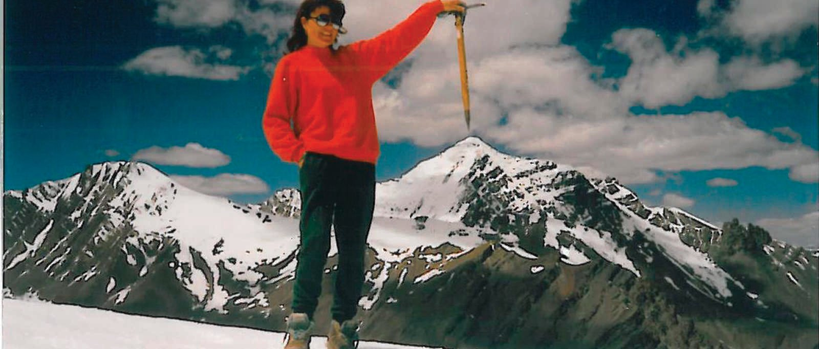 Valerie Parkinson on Stok Kangri, 1993