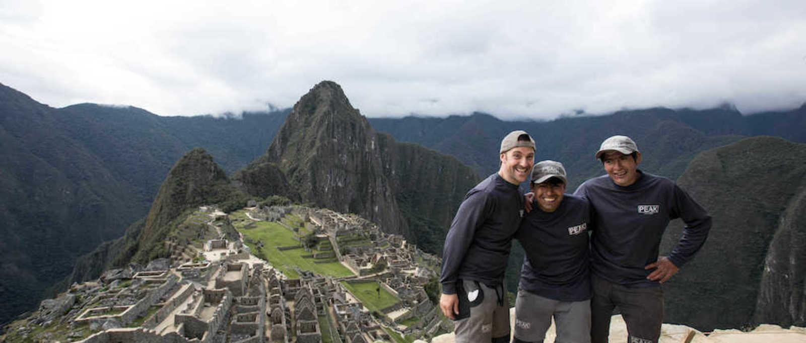 Exodus Inca Trail porters visit Machu Picchu
