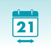 21 day flexibility icon