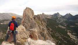 Bernia Ridge, Spain - Roped-up ridge scramble