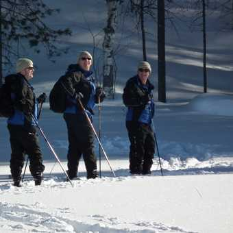 taking a breather; cross country skiing