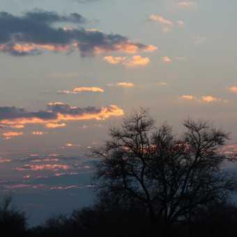 Setting sun, near Bulawayo.