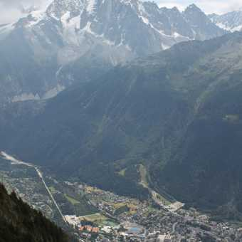 Chamonix from the Brevent