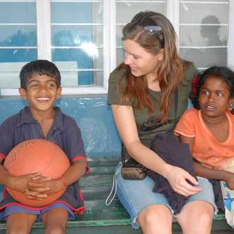 Visiting the orphanage