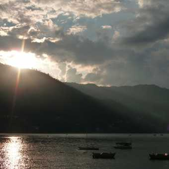 Sunset at lake, Pokhara