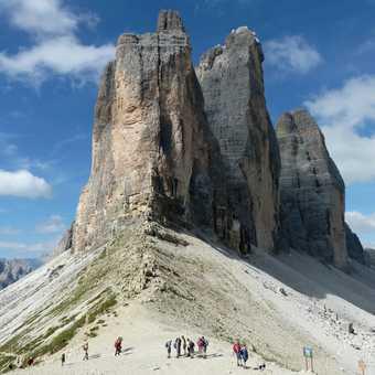 The Tre Cime di Lavaredo in the Dolomites