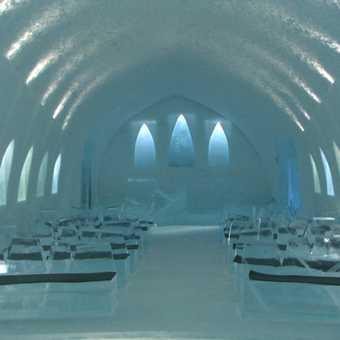 Ice chapel - ice hotel