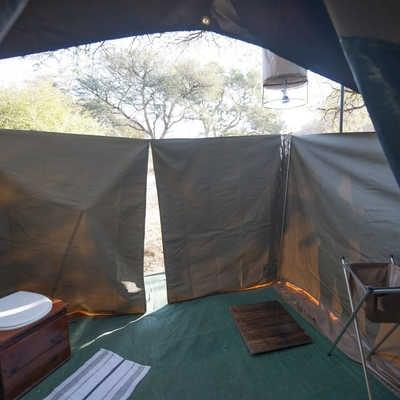 En suite bathroom, Wild Botswana camping