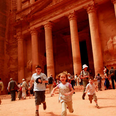 Children sightseeing, Petra, Jordan
