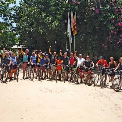 Flamingo Palm Trees Tropical Vacation Bicycle Handlebar Bike Bell