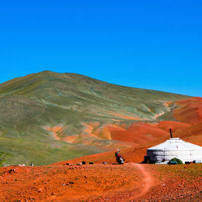 Mongolian ger in the mountains