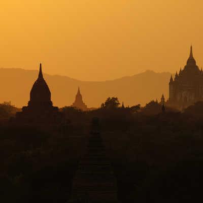Sunset in Bagan, Myanmar (Burma)