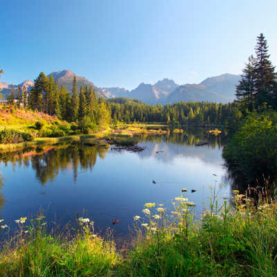 The lake Strbske pleso in Tatra mountains, Slovakia