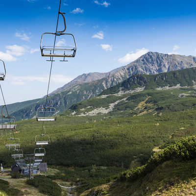 Cable car in Tatra mountains, Poland.