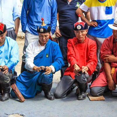 Ankle bone flicking, Naadam Festival
