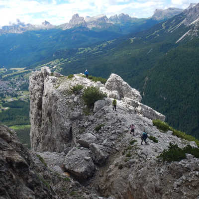 Rock climbing in the Dolomites, Italy