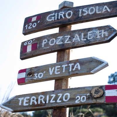 Markers in the Cinque Terre region