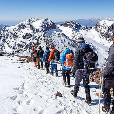 Descending Mt. Toubkal