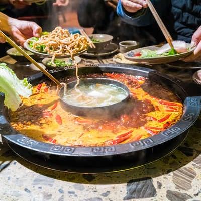 Sichuan hot pot