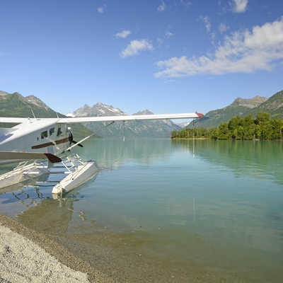 Float Plane in Lake Clark National Park in Alaska