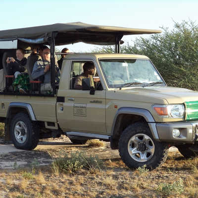Wild Botswana 4WD safari vehicle