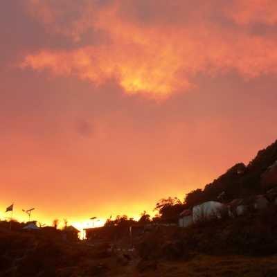 Chewabhanjyang Campsite sunset, India