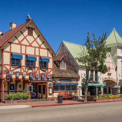 Danish town of Solvang in Santa Ynes, California